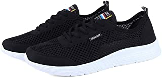 Heyean Mesh Shoes for Men Women Sneakers Sports Shoes Ultra-Light Comfy Breathable Lace Up Casual Gym Running Walking Shoes Slip-On Loafer Couple Shoes