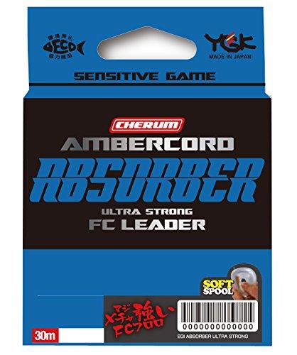 よつあみ(YGK) ショックリーダー チェルム アンバーコード アブソーバー ウルトラストロング FCリーダー フロロカーボン 30m 0.8号 4.6lb クリア
