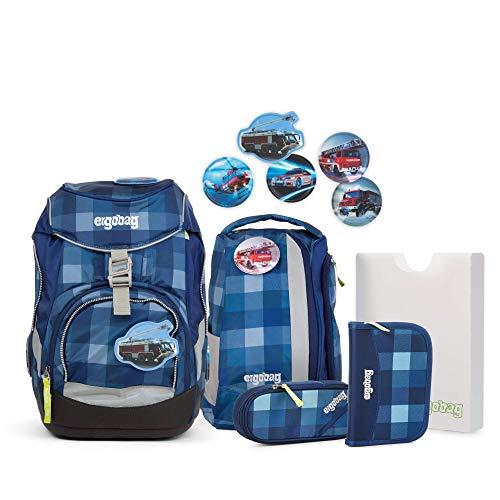 Ergobag Pack KaroalaBär, ergonomischer Schulrucksack, Set 6-teilig, 20 Liter, 1.100 g, Blau