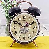 KSW_KKW Kreativer mechanischer leuchtender stummer Alarm Faule Mann-Ausgangsgebrauchs-Nachtpersonalisierte Uhr (形状 Shape : Round)