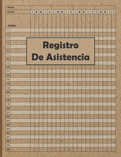 Registro de Asistencia: Libro de Asistencia para Entrenadores y Profesores|Hojas de Registro de Asistencia para Profesores | Libro de Registro de Clase para el Seguimiento de la Asistencia