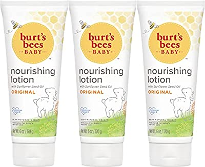 Burt's Bees Baby Nourishing Lotion, Original Scent Baby Lotion - 6 Ounce Tube - Pack of 3 by Burt's Bees