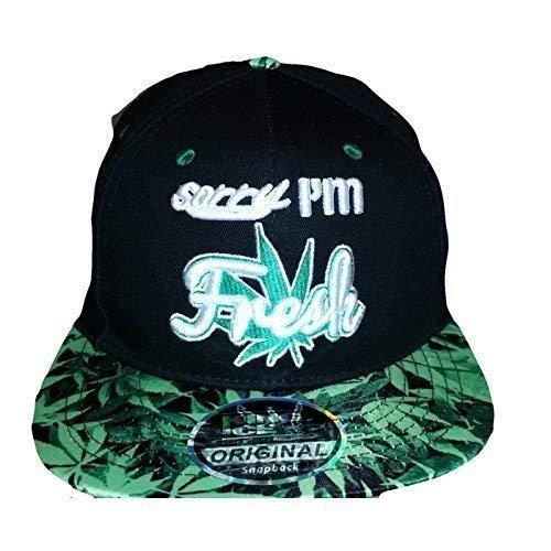 Gorra con visera plana de King Ice, con diseño de plantas de marihuana, unisex Sorry im fresh leaf...