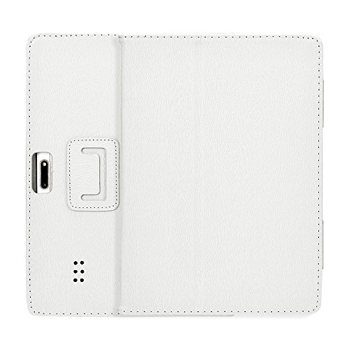 Universal Leather Stand Cover Case,for 10/10.1 Inch Android Tablet PC,Anti-dirts,Anti- Fingerprints, Anti-Aging, Anti-Shock (Weiß)