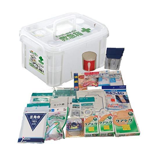 救急セット プラスチックコンテナケース 5人用 28点セット 事業所 屋外 スポーツ 防災 水濡れ 強い 救急箱