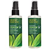 Desert Essence Tea Tree Oil Relief Spray Plant-Based with Calming Chamomile, Rosemary Oil & Balm Mint Extract - Relieves Skin Irritation, Sunburn, Scrapes or Insect Bites - Vegan, Cruelty-Free - 4oz