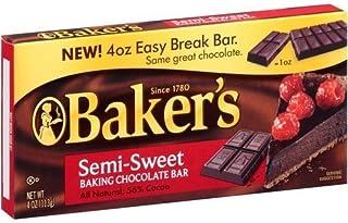 Baker's, Semi Sweet Baking Chocolate Squares, 4oz Box (Pack of 4)
