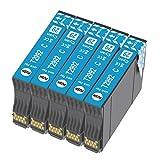 Ouguan® 5 cartuchos de tinta cian compatibles con Epson 29 XL 29 para Epson XP-342 XP-442 XP-245 XP-432 XP-345 XP-247 XP-235 XP-255 XP-257 XP-352 XP-452 XP-455 XP-335 XP-332 XP-435 5