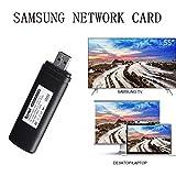 Wireless Wi-Fi Adapter for Samsung, Golden^Li TV Wireless WiFi Network Card Adapter, 300Mbps Dual Band 2.4G/5G Wireless 802.11 USB2.0 Wi-Fi LAN Adapter for Samsung TV Laptop Desktop