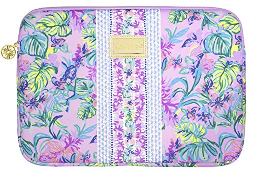 Lilly Pulitzer Soft Padded Tech Sleeve with Zip Close, Laptop Case Fits up to 13 Inch Computer, Mermaid in The Shade