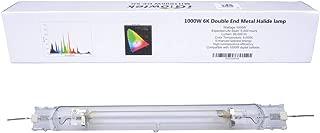 iGrowtek 1000W Double Ended MH Grow Light Bulb, 1000 Watt HID Grow Bulb, Metal Halide Grow Lamp,Enhanced Photosynthetic Efficiency Spectrum, CCT 6000K