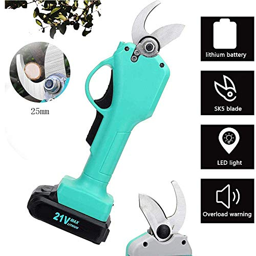 Why Choose WMING Cordless Electric Pruning Shears Less,Professional Lithium Battery Powered Tree Bra...