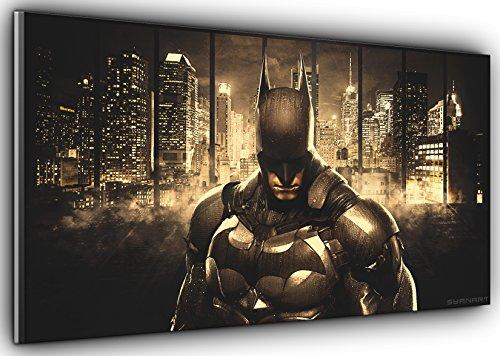 Von Canvas35Gotham 's Displayschutzfolie Batman Dark Knight Panorama Kunstdruck Bild gerahmt XXL 139,7x 61cm über 4,5breit x 2ft Hoch bereit zu hängen, Leinwand, mehrfarbige,