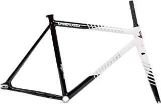 State Bicycle Co. The Undefeated II Black & White Edition 7005 Fixed Gear Track Bike Frame Set