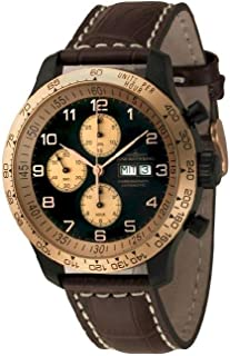 Zeno - Watch Reloj Mujer - OS Tachymeter Retro Chrono DD Tachymeter - 8557TVDDT-BRG-d1