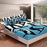 Feelyou Skiing Bed Sheet Set Snow Mountain Bedding Set for Boys Girls...