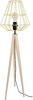 Tosel 51299 Lampadaire 1 Lumière, Bois, E27, 40 W, Ivoire, 30 x 150 cm