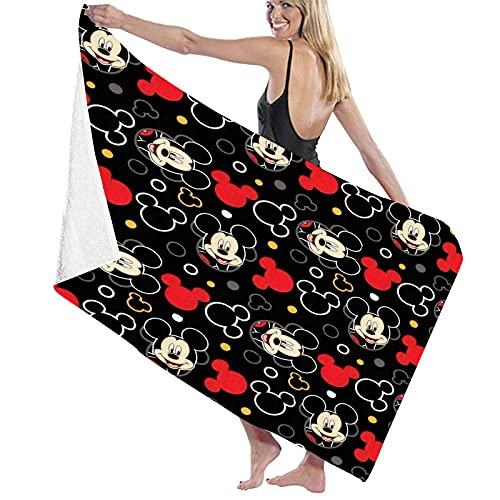 Mickey Beach Bath Towels Microfiber Quick-Drying Bath Towel Super Absorbent Large Towel Cartoon Beach Towels for Kids Adult Travel Swimming Camping Yoga (Style 2)