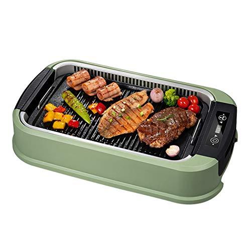 220 V rauchlosen elektrischer BBQ-Grill, 1500W tragbarer koreanischer intelligenter BBQ-Pfanne mit Anti-Stick-Abnehmbare Platten