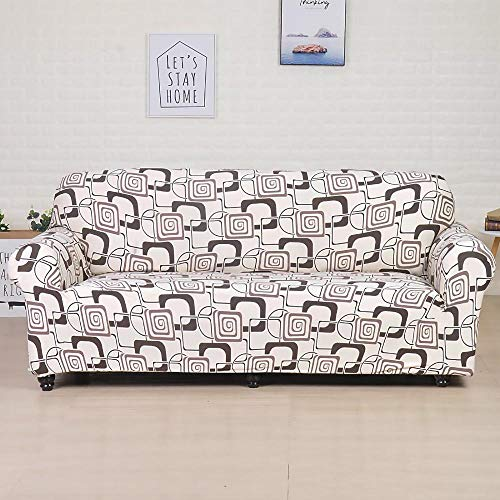 ASCV Funda de sofá de poliéster de Color sólido Funda de sofá Antideslizante de Alta Elasticidad Funda Protectora Universal para Silla de Muebles A3 2 plazas