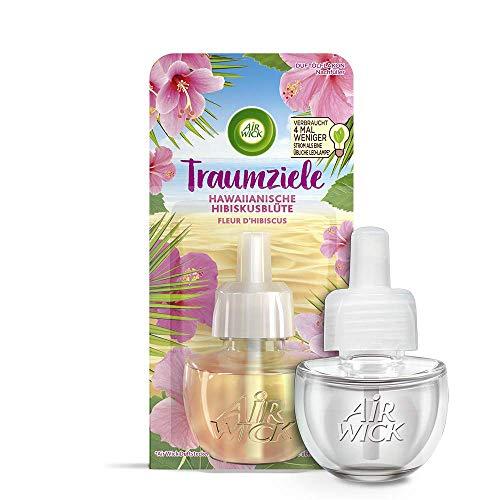 Air Wick Duftölflakon Nachfüller Hawaiianische Hibiskusblüte– Blumiger Raumduft – 6er Duftöl Set