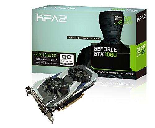 KFA2GeForce GTX 1060OC Tarjeta gráfica PCI-E Gaming Negro