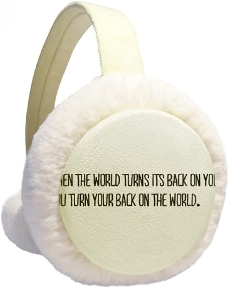 Turn Your Back To The World Winter Ear Warmer Cable Knit Furry Fleece Earmuff Outdoor