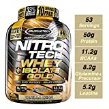Muscletech Nitro Tech Whey Plus Isolate Gold Suplemento de Proteínas Vanilla - 1810 gr