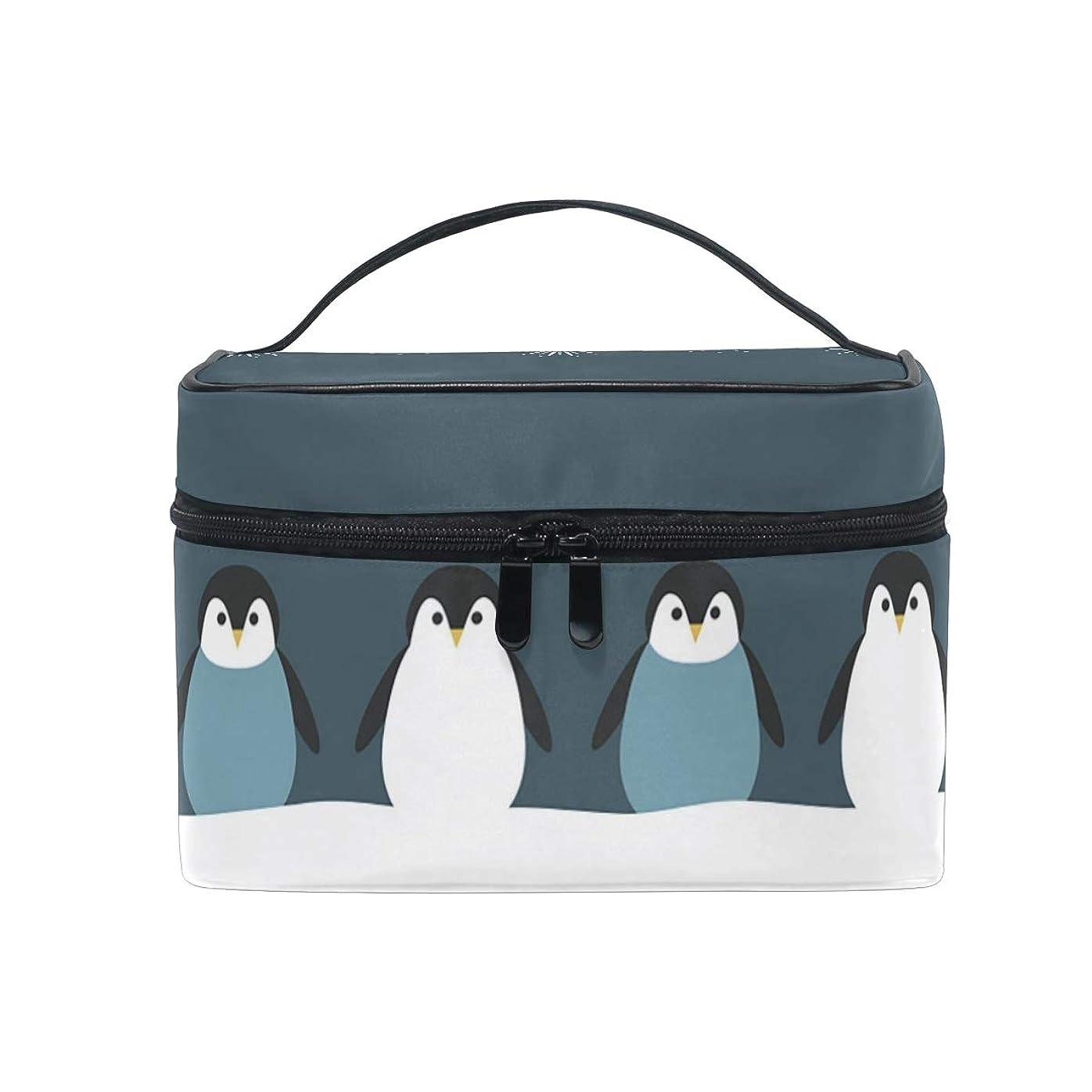 避難するサイバースペース西部メイクポーチ 動物 ペンギン 花火 化粧ポーチ 化粧箱 バニティポーチ コスメポーチ 化粧品 収納 雑貨 小物入れ 女性 超軽量 機能的 大容量