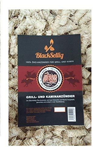BlackSellig 100 Stück natürliche Anzünder Anzündwolle Grillanzünder Ofenanzünder Kaminanzünder