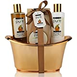 Rachelle Parker Honey & Green Tea Exclusive Spa Gift Basket for Natural Skin- Body Hydration & Rejuvenation! Ideal Birthday Gift & Thank You Gift