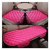 MISSMAO_FASHION2019 Set Completo di Coprisedili Auto 5 Posti Seat Cover Anteriori e Posteriori Protezioni Universali per Macchina Tessuto Poliestere Pink:2 Anteriori+1 Sedile Posteriore Taglia Unica