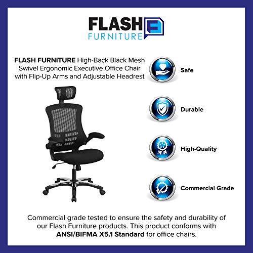 Flash Furniture High-Back Black Mesh Swivel