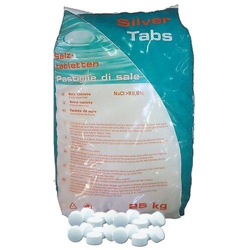 Silver Tabs - Sel en pastilles pour adoucisseur et purificateur, 25 kg par...