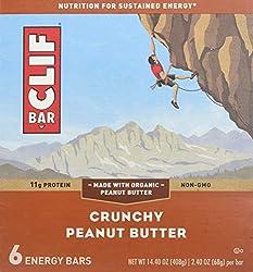 CLIF Crunchy Peanut Butter Bar 6 Count, 2.4 OZ