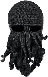 Fashionclub Women Men Winter Warm Octopus Entacle Beanie Wind Mask Knit Hat Cthulhu Fisher Cap