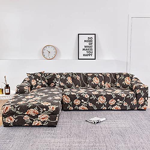 WXQY La Forma de L Necesita Pedir una Funda de sofá de 2 Piezas, Funda de sillón de Toalla de sofá elástica, para Funda de protección de Muebles de sofá de Esquina A2 3 plazas