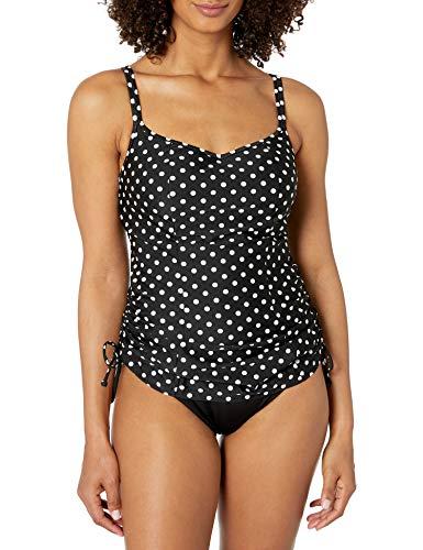 Panache Women's Anya Spot Bra-Sized Balconnet Tankini, Black/White, 42 HH