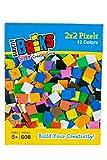 Strictly Briks - Classic Bricks - Set de píxeles de 2 x 2 - 100% Compatible con Todas Las Grandes Marcas de Ladrillos - Juegos creativos manuales - 12 Colores - 608 Piezas
