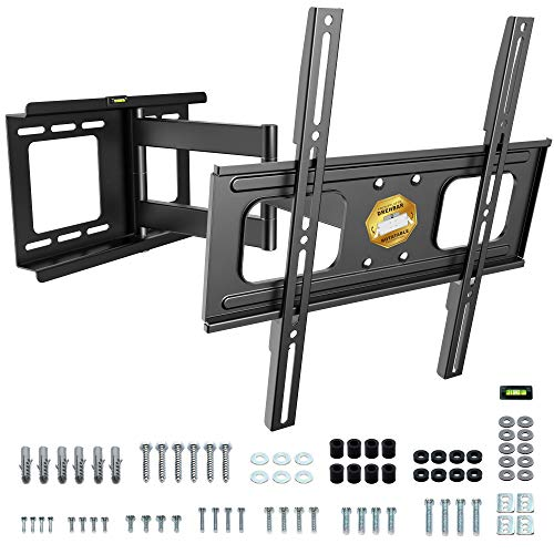 RICOO TV Wandhalterung Flach Schwenkbar Neigbar (S2544) Universal für 32-60 Zoll bis 45-Kg Max-VESA 400x400 LCD-Display Bildschirme Fernseher-Wand-Halterung