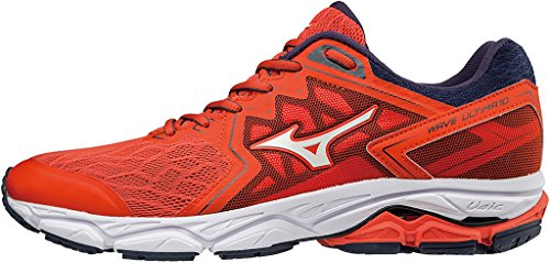 Mizuno Wave Ultima 10, Zapatillas de Running Hombre, Rojo (Cherrytomato/White/Evening Blue 02), 50 EU