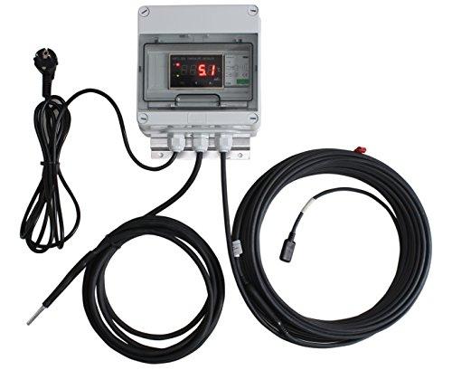 INROT Heiz Systeme 70053 Koi Teich Heizungen Digital programmierbar mit Display, 600Watt, 16000l bis 20000l, 20m