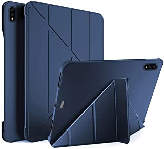 For Samsung Galaxy Tab S7 (SM-T875) (SM-T870) 11 Inch Smart Case Flip Cover Leather with Pen Holder Case Soft TPU Back And...