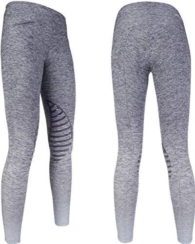 HKM - Reitsport-Hosen für Damen in Dunkelblau Meliert, Größe 134-140