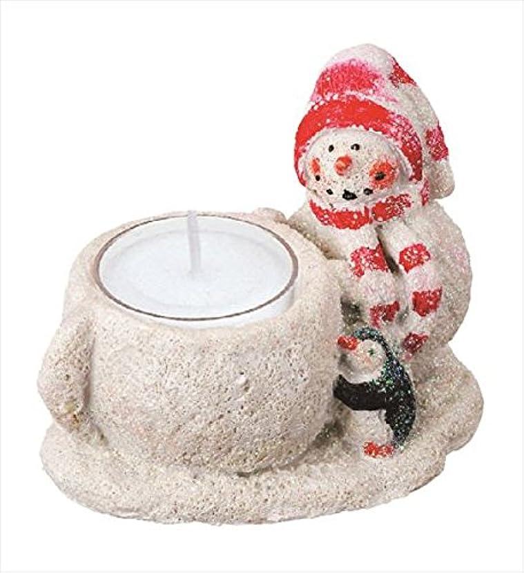 クロス養うはげカメヤマキャンドル(kameyama candle) グリッタースノーマンホルダー 「 レッド 」