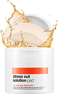 [BELLAMONSTER] Stress Out Solution Pad 155ml 70ea / 3D Embossed Vitamin A Carrot Seed Oil Pad Removes Dead Skin Cells and Red Spots, Acne Relief, Skin`s Strength Enhancement for Dull Skin