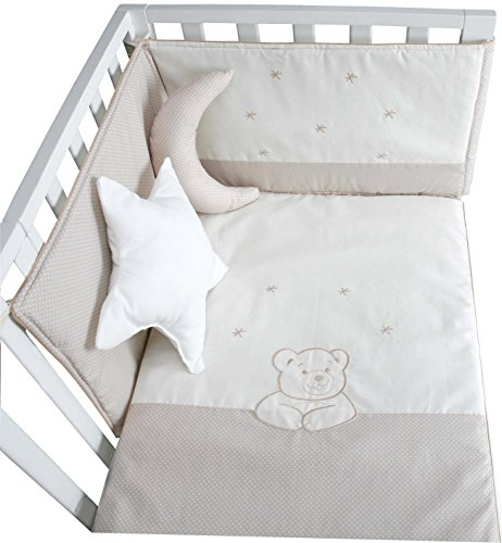 COLCHA Y PROTECTOR CUNA ASTRA BEIGE