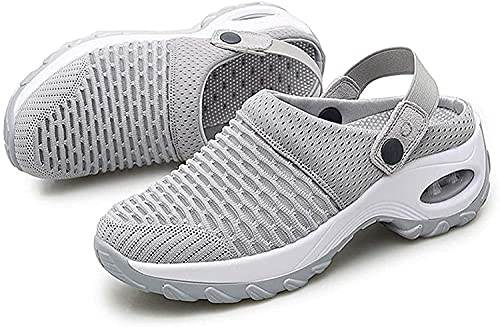 Atmungsaktive Freizeitschuhe mit Luftpolstern – Damen Outdoor Gym Running Sneakers Walking Schuhe Slip On Leicht Atmungsaktiv Damen Bequeme Freizeit Slipper