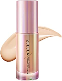 ZEESEA(ズーシー)メタバースピンクシリーズ シャイニングギャラクシー リキッドファンデーション 軽い付け心地で、毛穴をカバー キレイな素肌感 (OC02#ライトイエローベージュ)