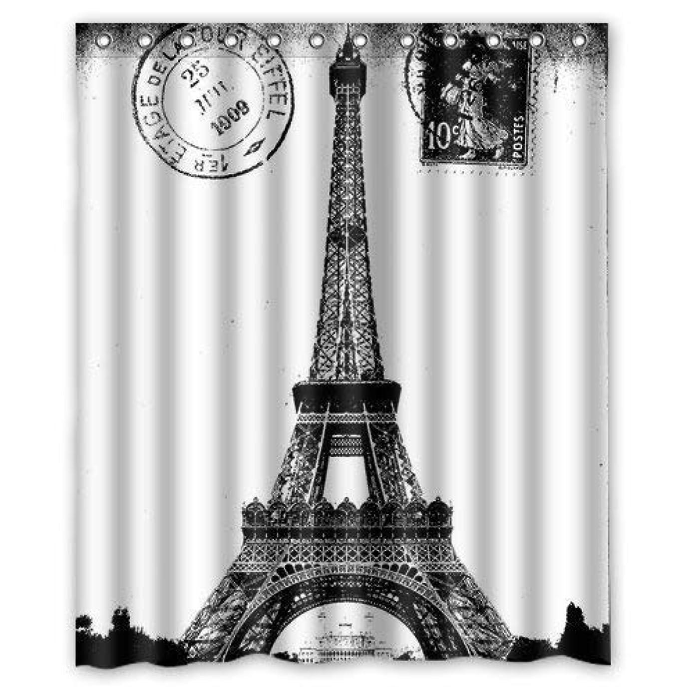 国歌効率的貨物シャワーカーテン バスカーテン 防カビ おしゃれ 120x180cm Custom Frech Paris Eiffel Tower City of Love